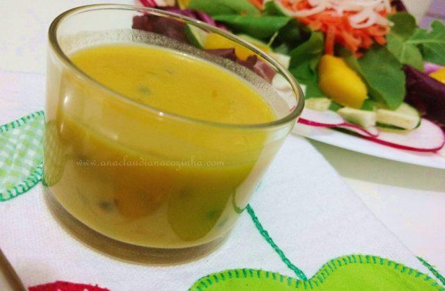 molho para temperar salada com maracujá