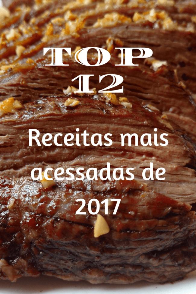12 receitas mais acessadas de 2017