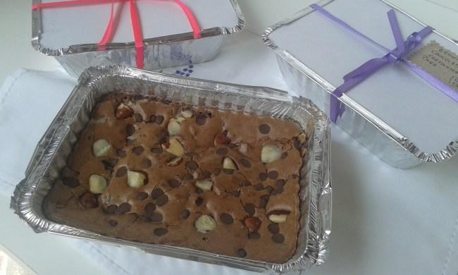 borwnie de chocolate com castanha