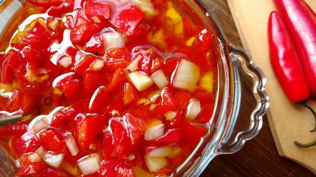 vinagrete picante de pimenta