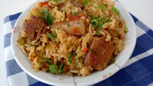 arroz com costelinha na pressão fácil