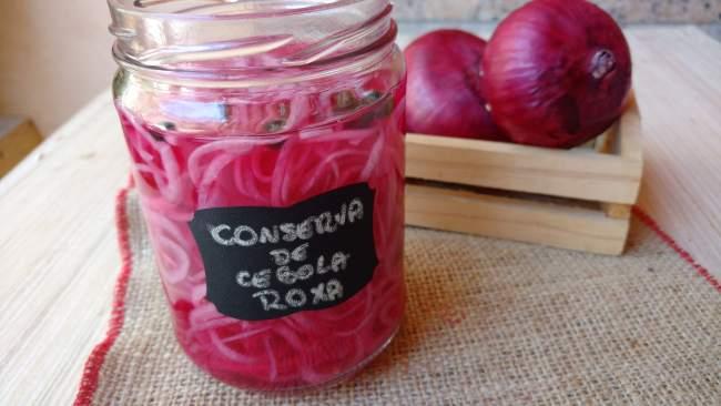 conserva de cebola roxa