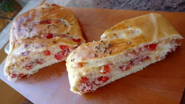 pão pizza feito em casa