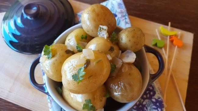 batata bolinha em conserva