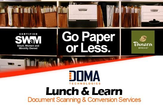 DOMA's Lunch and Learn Document Scanning & Conversion Services
