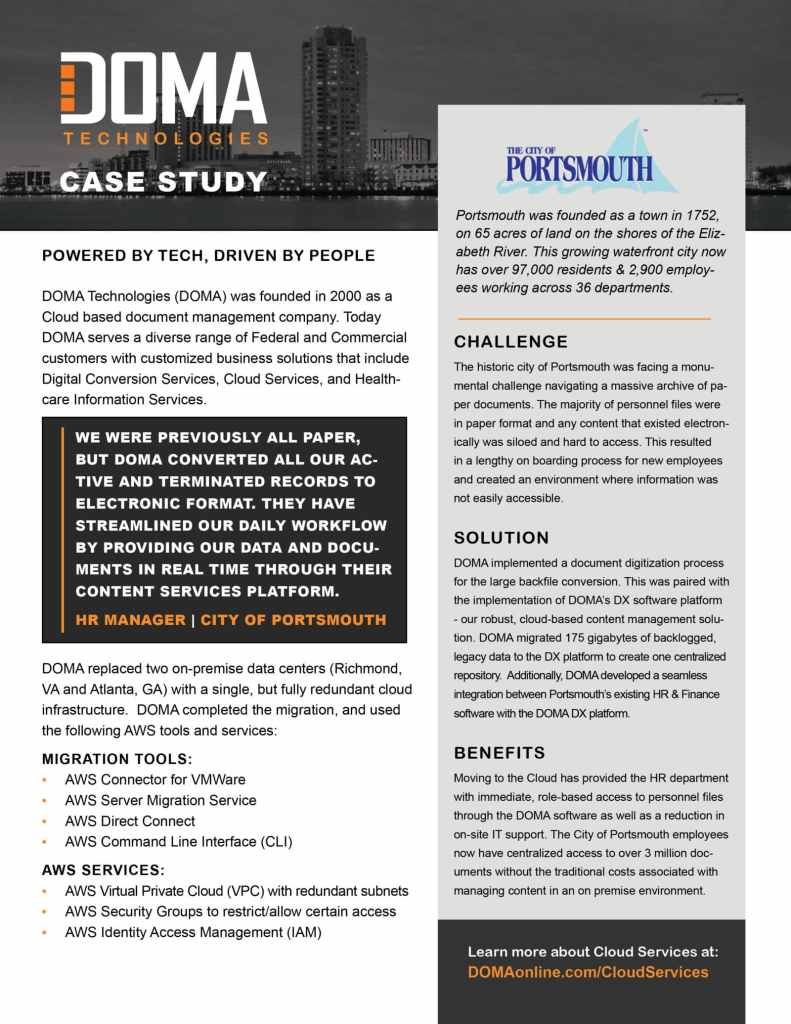 City of Portsmouth Case Study