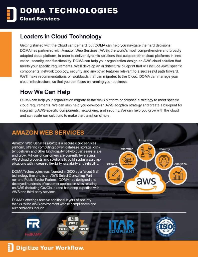 Cloud Services Brief Page 2