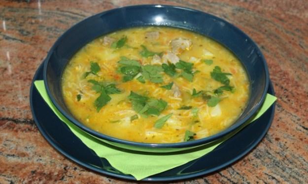 Супа и манджа със свинско месо в една рецепта