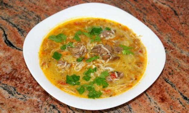 Супа с пилешки дробчета