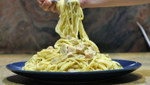 Спагети с гъби
