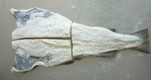 Corte à posta peixe pequeno