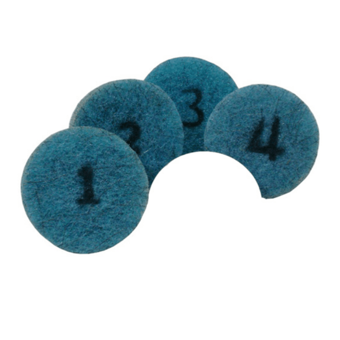 Poly Blue Concrete Polishing Pads, Full Set