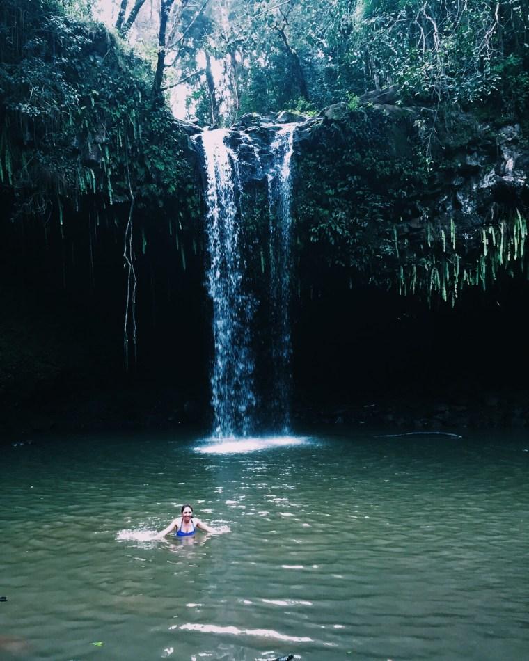 Swimming in the Twin Falls pool