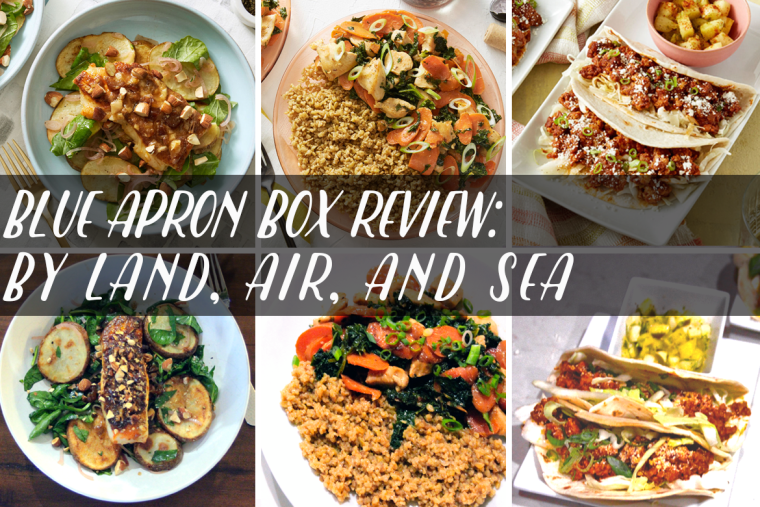 Reviews of Blue Apron's Smoky Seared Cod w/ Potatoes & Dates, Miso-Butter Chicken w/ Freekeh & Carrots, and Pork & Cabbage Tacos w/ Pineapple Jalapeno Salsa