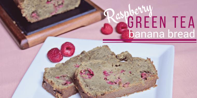 Raspberry Green Tea Banana Bread