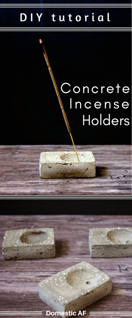 Make 10 DIY concrete incense holders for under $20. Alternative bachelorette party favors, birthday presents, or just an unusual and handmade gift idea.