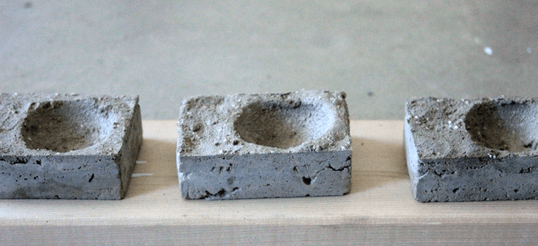 DIY Concrete Incense Holders