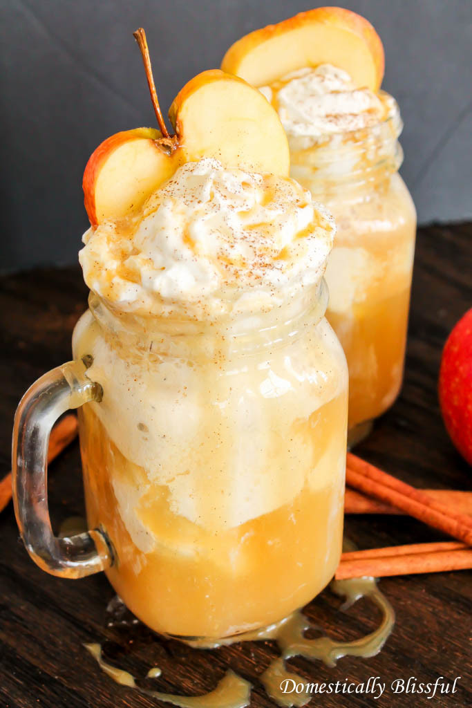 Apple Cider Floats Recipe |  Domestically Blissful