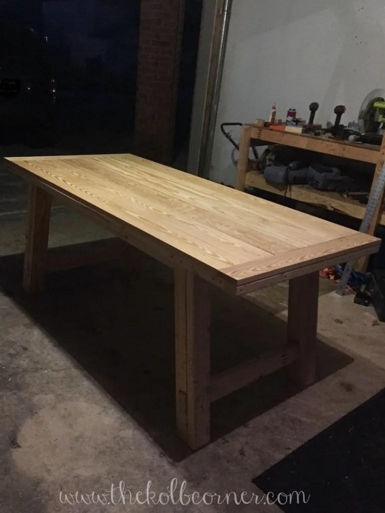 diy farmhouse style dining table