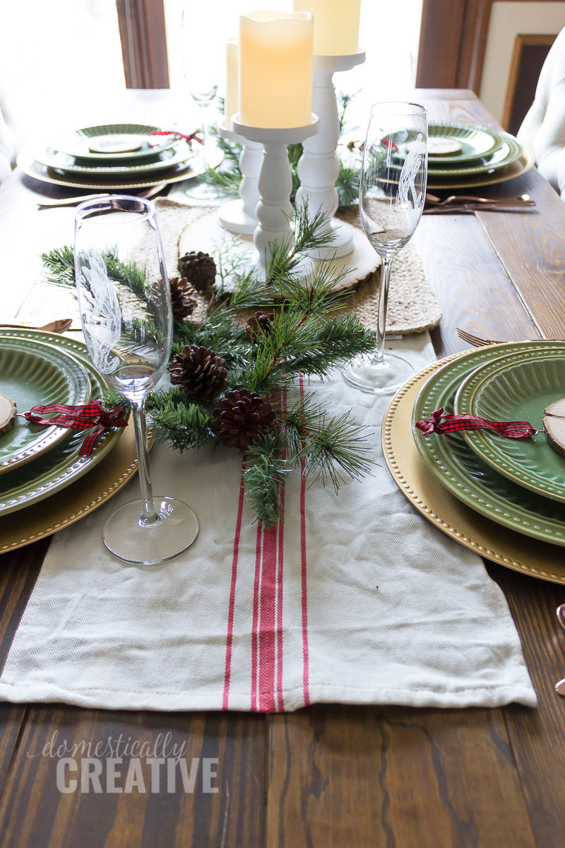 Simple Rustic Christmas Tablescape Domestically Creative