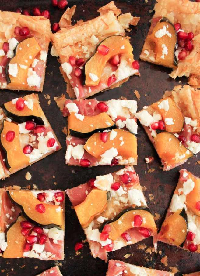 Holiday-Appetizer-Acorn-Squash-Tart-With-Pomegranate-and-Prosciutto-5
