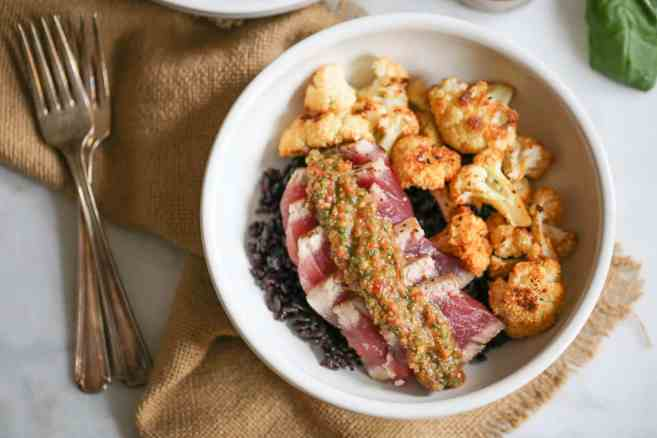seared-ahi-bowls-with-roasted-cauliflower-and-red-chimichurri-7