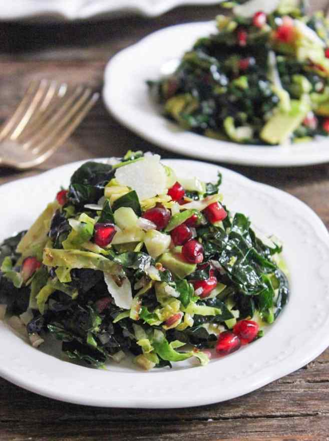 massaged-kale-and-shaved-brussels-sprouts-salad-with-pomegranate-and-avocado-4