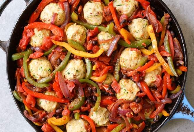 Chicken-Meatball-Fajita-Skillet-step-7
