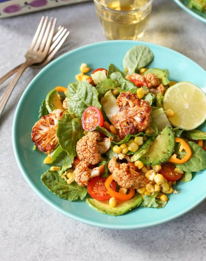vegan-roasted-bbq-cauliflower-salad-4