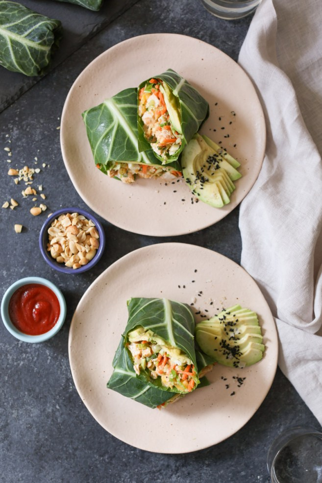 sriracha-chicken-salad-collard-wraps-with-mango-avocado-and-slaw-4