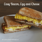 Easy Bacon, Egg and Cheese