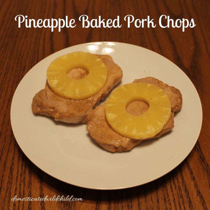 Pineapple Baked Pork Chops