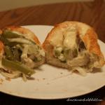 Crockpot Philly Chicken Cheesesteak Sandwiches