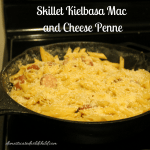 Skillet Kielbasa Mac and Cheese Penne