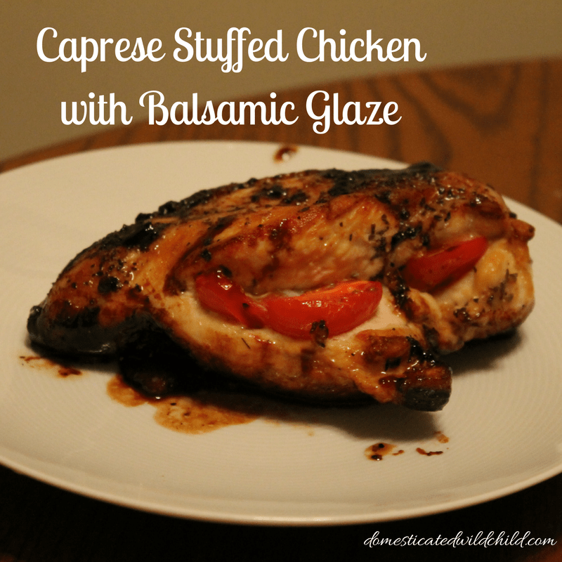 Caprese Stuffed Chicken with Balsamic Glaze
