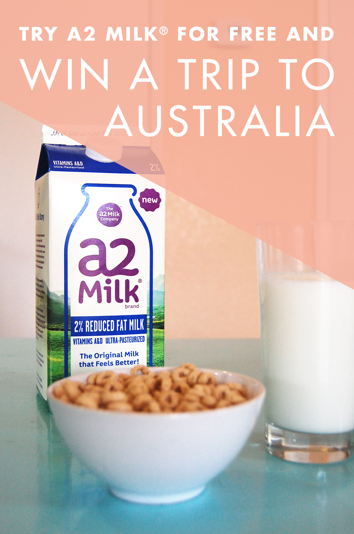 Try a2 Milk for Free and Win a Trip to Australia