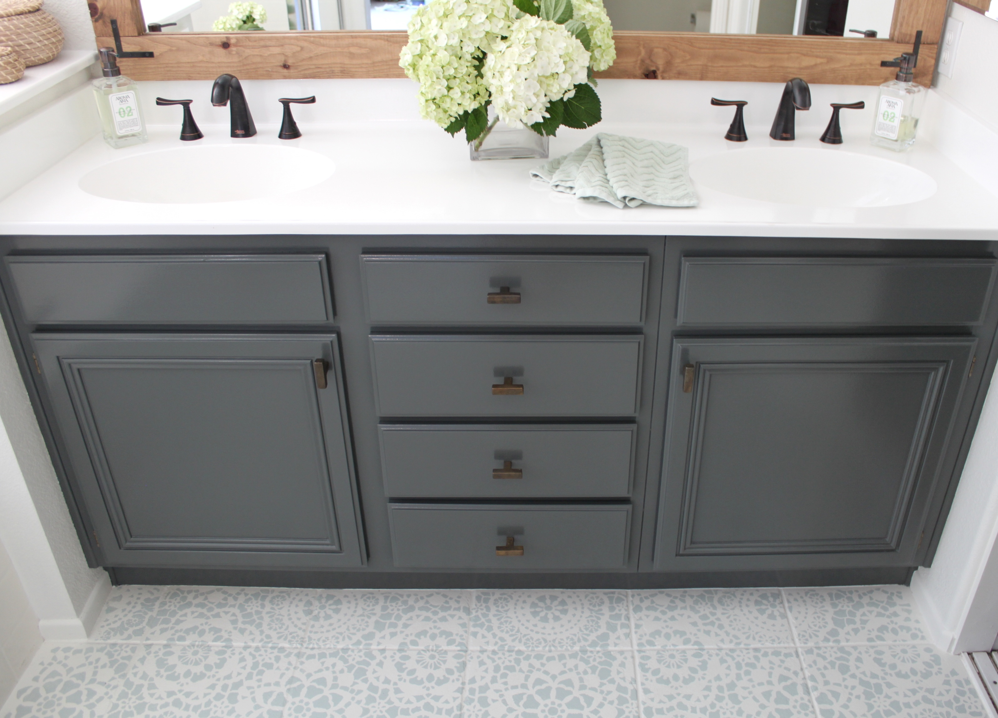 UPDATE: Bathroom Cabinet! THIS Is How To Refinish Yours For Professional  Results