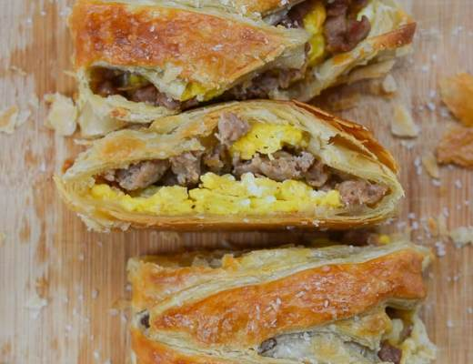 Turkey Sausage and Egg Breakfast Braid