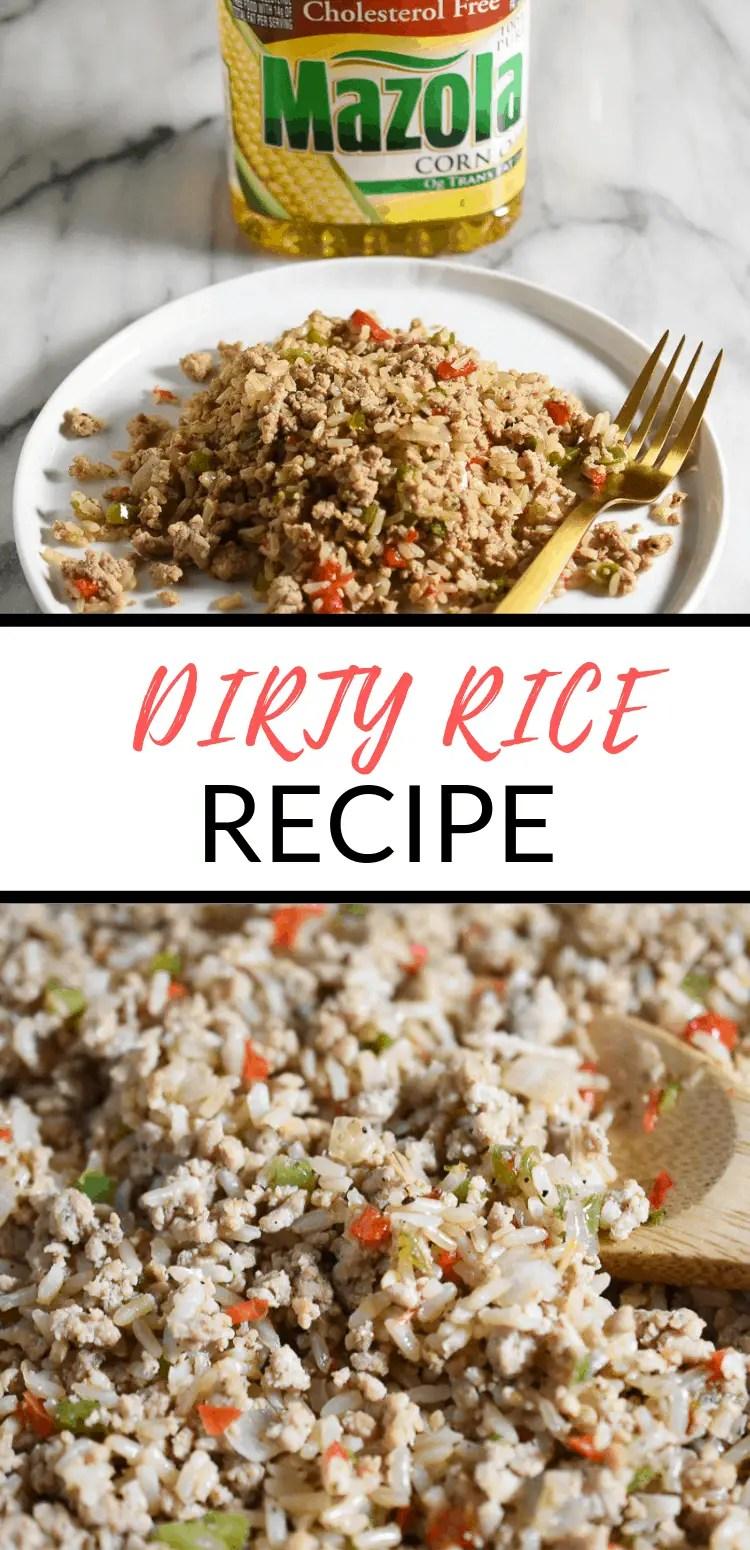dirty rice with ground turkey