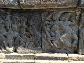 Detail of the extensive Borobudur carvings