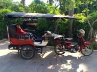 A tuk-tuk, the common way to get around Siem Reap