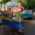 Rujak- chopped fruit covered in peanut sauce