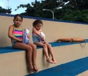 Snack break at the pool