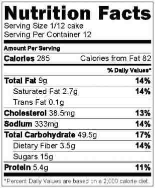 Chocolate cherry cake nutrition info
