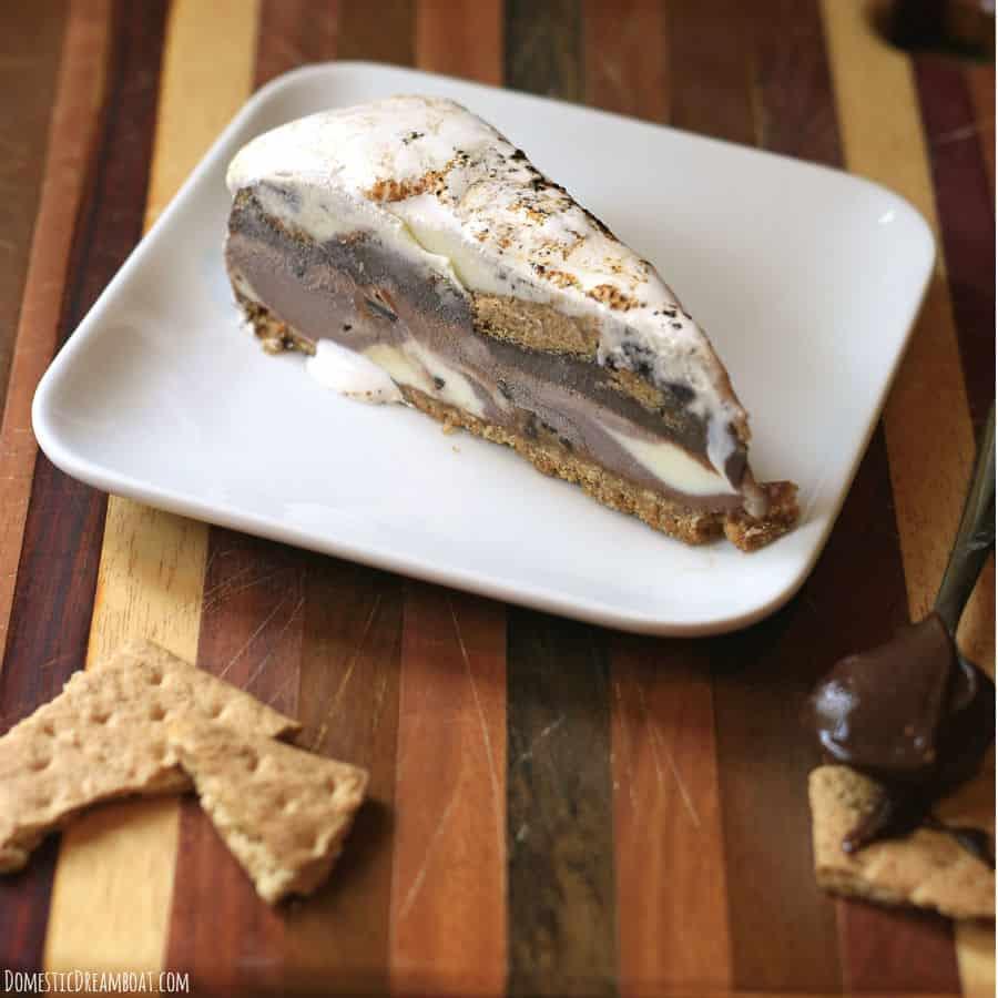 Slice of smores cake