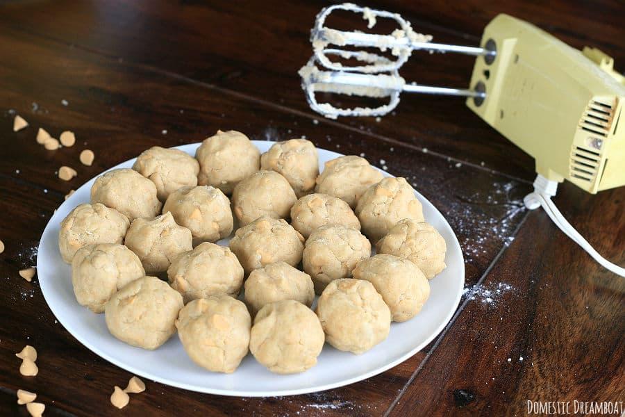 butterscotch cookie dough balls