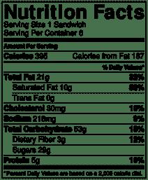 Chocolate covered ice cream sandwich nutrition info