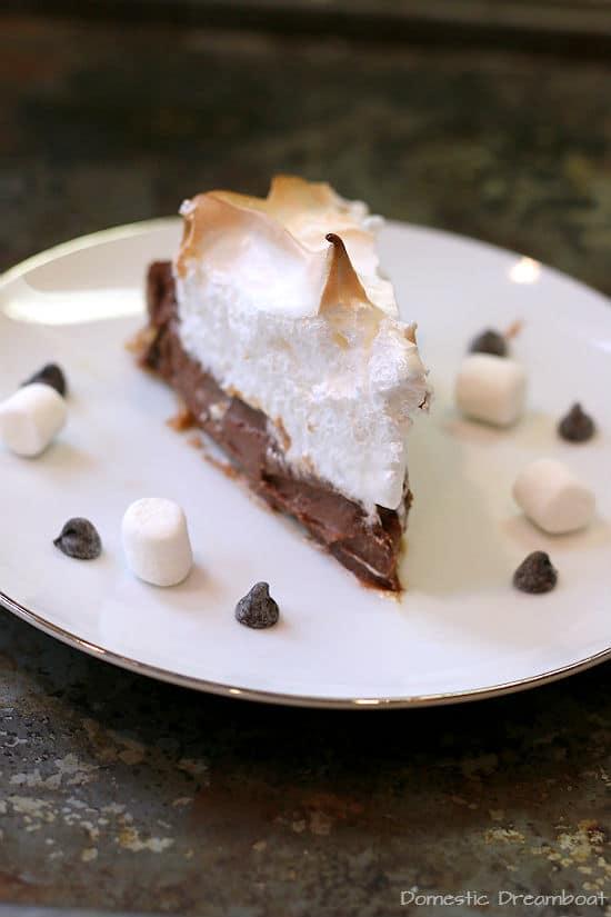Smores Pie slice
