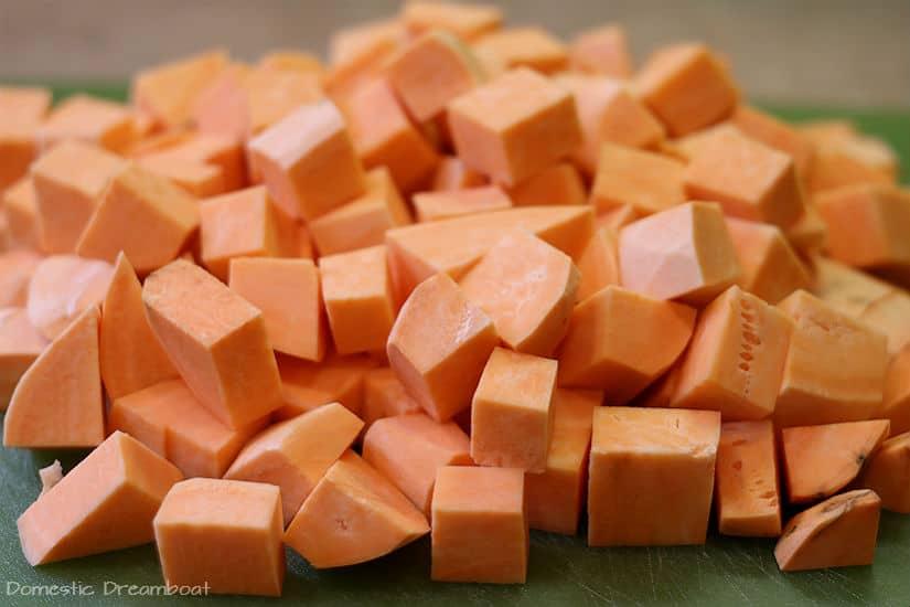 Cubed Sweet Potatoes