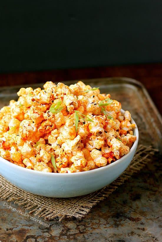 Spicy Gochujang Butter Popcorn - Domestic Dreamboat